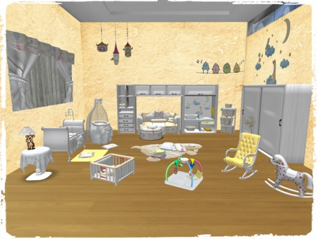 Muebles Life Zwdg Second Life Marketplace Espejito Cotton Baby Bedroom Full Set
