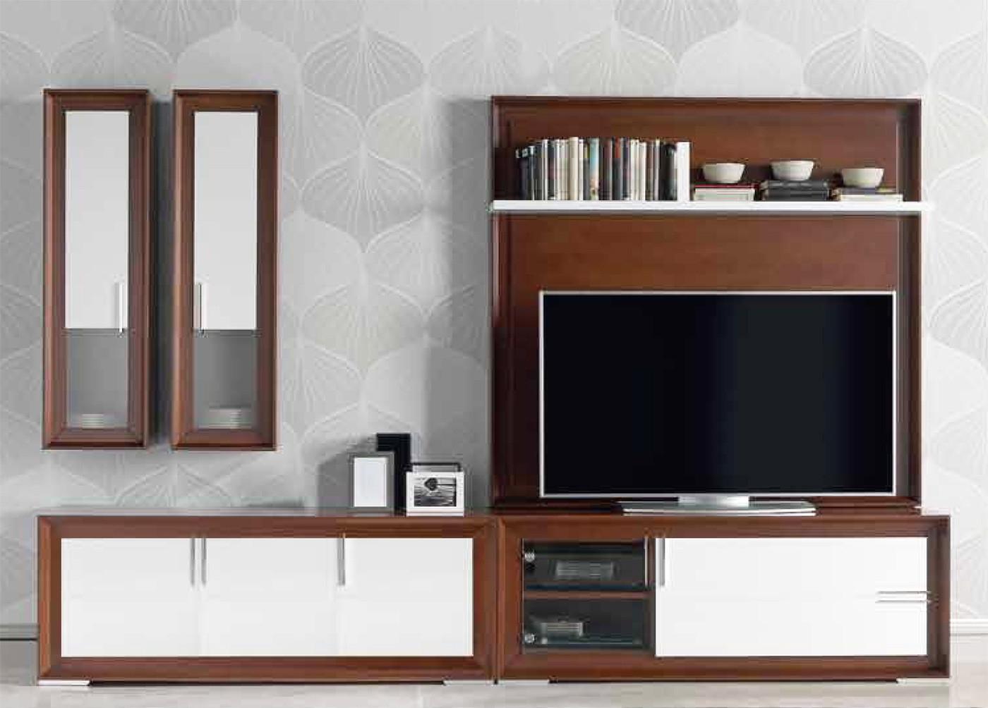 Muebles Modulares E9dx Muebles Modulares Con Mà Dulo De Televisià N En Madera De Haya