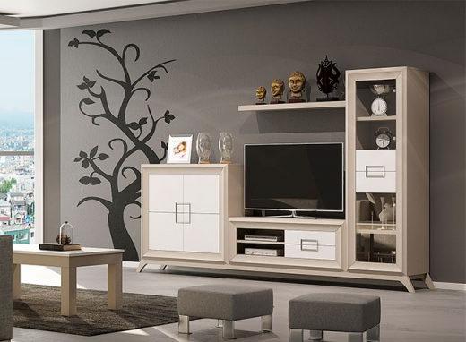 Muebles Modulares Salon X8d1 Muebles Modular Moderno De Salà N Con Patas En Chapa De Roble