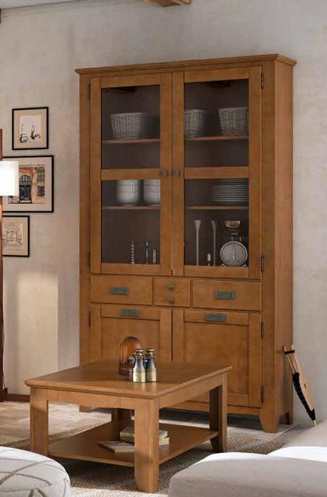 Muebles Online España Ffdn Vitrina Colonial De Dimensiones Espectaculares 115 X 40 X 210 Cm A