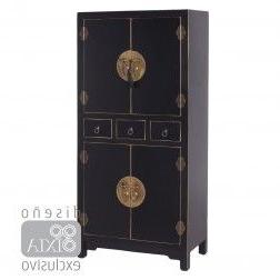 Muebles orientales Online Tldn Mueble Chino Armario Negro 4 Puertas Muebles Chinos Y orientales