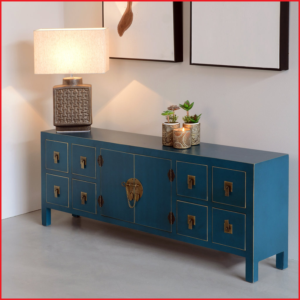 Muebles orientales Online Tldn Muebles orientales Online Mueble Tv oriental Azul Barato