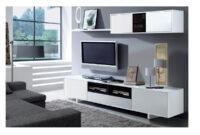 Muebles Para Television O2d5 Mueble De Edor Para Tv Blanco Y Negro Oferta Salà N Minimalista