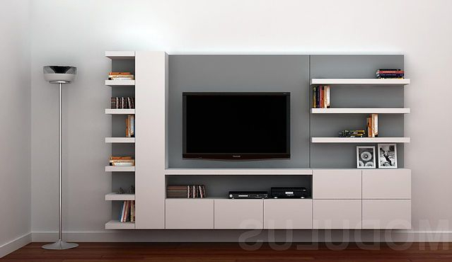 Muebles Rack Ftd8 Modulares Para Living Tv Lcd Led Wall Unit Muebles Para Tv