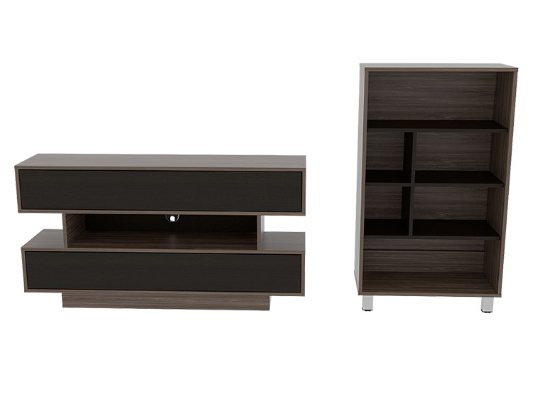 Muebles Rack Whdr Ripley Set De Muebles Tuhome Bellaglio Rack Biblioteca