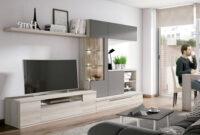 Muebles Salon 9fdy Conjunto Muebles Salà N Moderno Posicià N Irregular Gris Y Madera