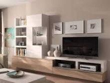 Muebles Salon Blanco Y Madera