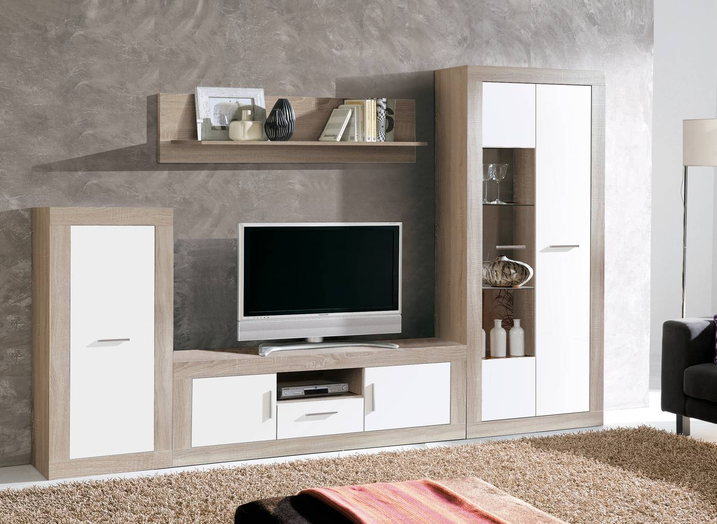 Muebles Salon Blanco Y Madera 4pde Oferta De Mueble Online Salà N Edor Moderno Online Modular