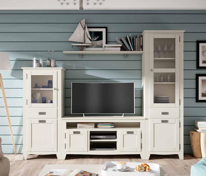 Muebles Salon Blanco Y Madera Bqdd Muebles De Salon En Blanco Venta Online Muebles De Salon Colonials
