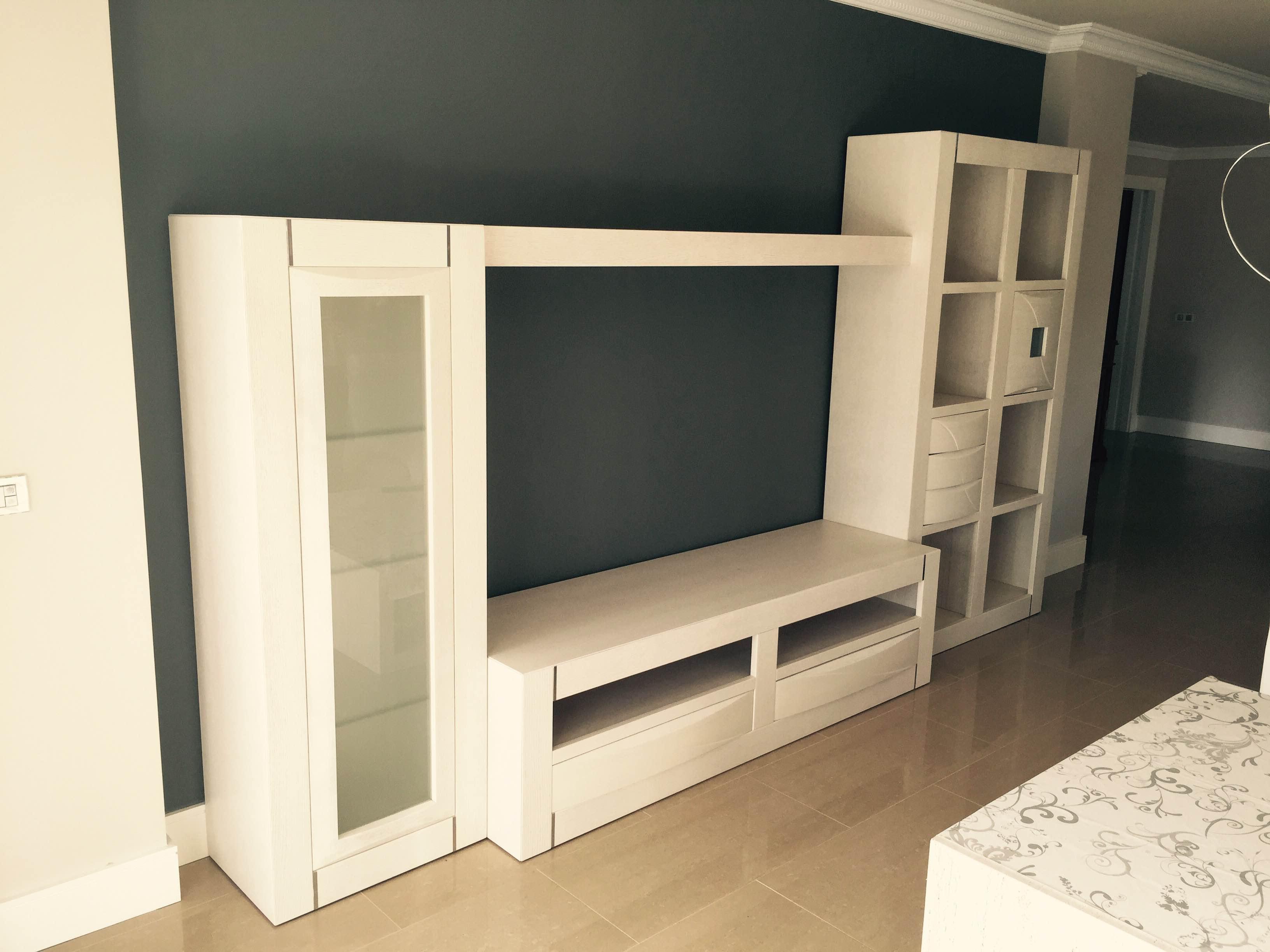 Muebles Salon Blanco Y Madera Ipdd Salones P Laminada En Roble Natural Y Frentes De Madera Maciza De