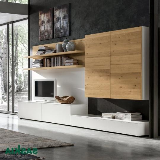 Muebles Salon Blanco Y Madera Irdz Fantastico Mueble Salon Blanco Y Madera De Sal N Moderno Gs020