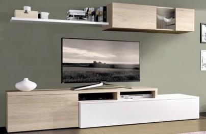 Muebles Salon Blanco Y Madera J7do Salones Baratos Desde 99 Muebles Boom