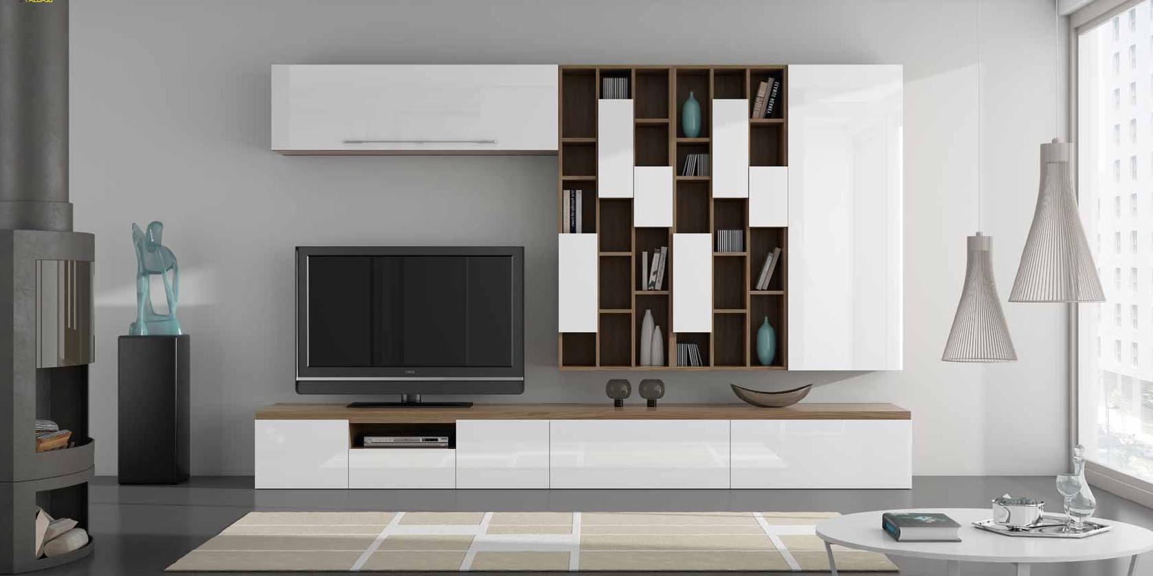 Muebles Salon Blanco Y Madera U3dh Salones Con Muebles Lacados En Blanco Y Madera Villalba Interiorismo