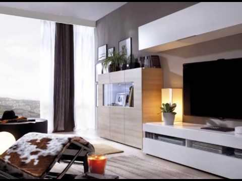 Muebles Salon Blanco Y Madera Zwdg Muebles De Salon En Colores Blanco Y Madera Youtube
