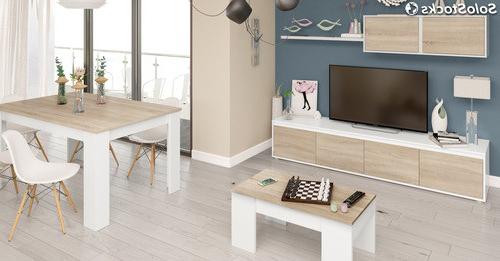 Muebles Salon Estilo nordico Drdp Pack Muebles Salà N Edor Pleto Color Blanco Y Roble Estilo Nà Rdico