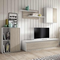 Muebles Salon Estilo nordico Q5df Mueble Salà N Estilo Escandinavo 220x180x38 Cm Miroytengo