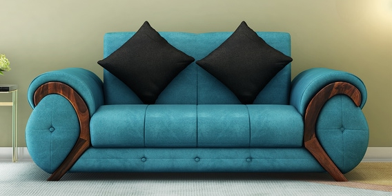 Muebles sofas Jxdu Trendy Two Seater sofa In Aqua Blue Colour by Muebles Casa