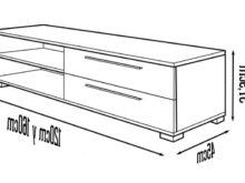 Muebles Television Diseño Q5df Diseà O Mueble Tv Con 2 Cajones Ideal Para Televisores Con Base O