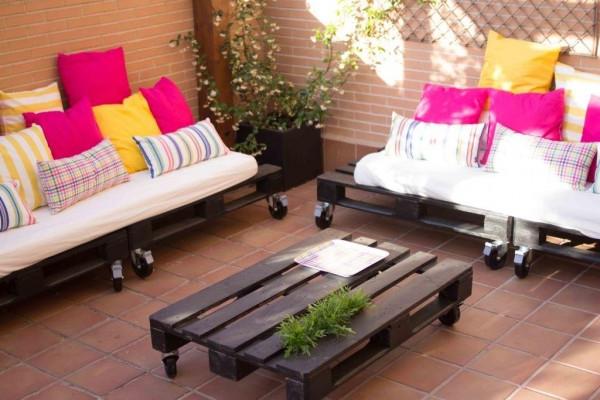 Muebles Terraza Pequeña S1du Mueblesdepalets Pequeà A Terraza Amueblada únicamente Con Palets