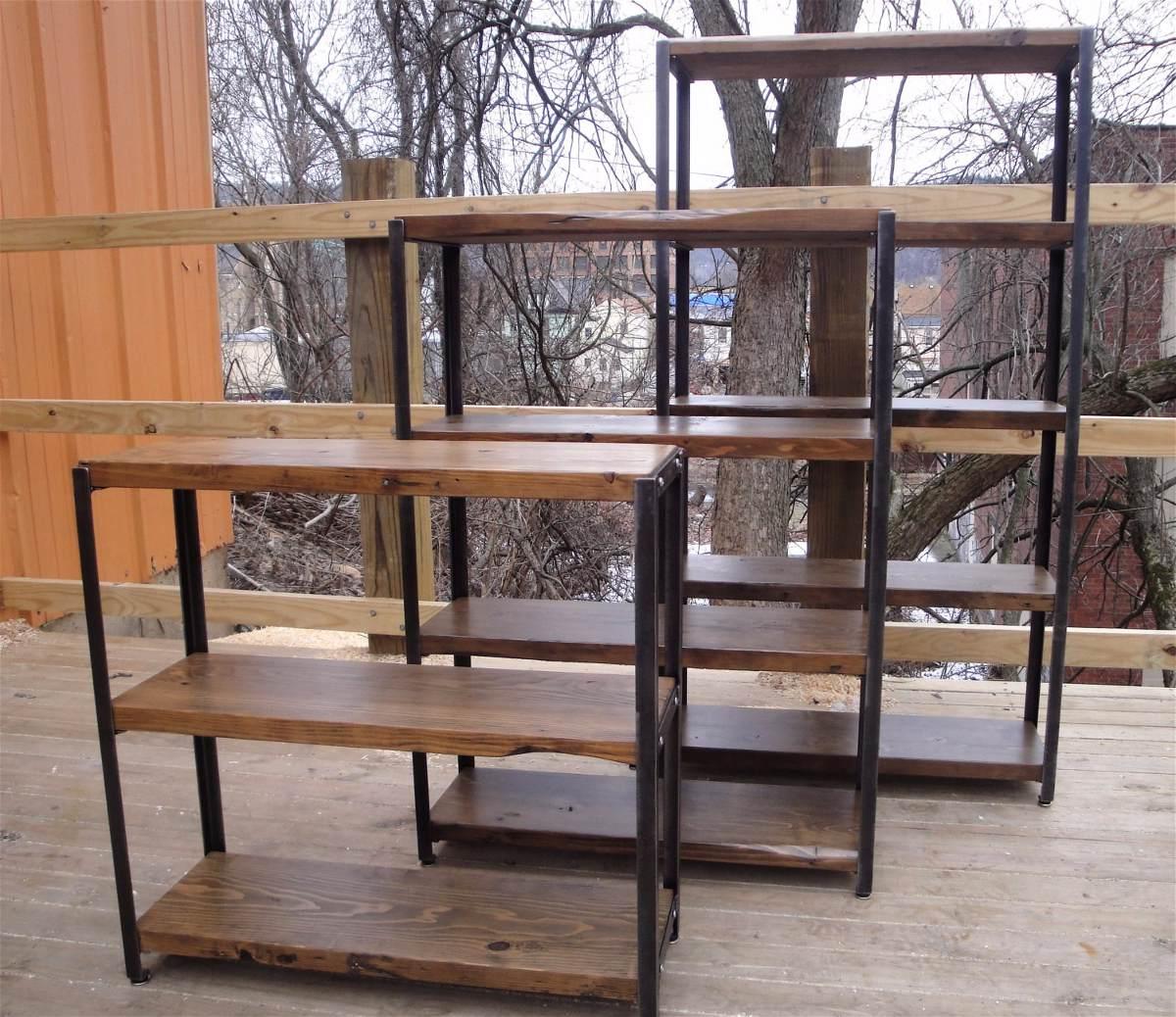 Muebles Tipo Industrial 8ydm Biblioteca Estilo Industrial Hierro Madera Estanteria Mueble