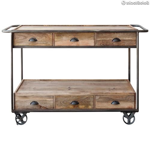 Muebles Tipo Industrial 9ddf Carro Camarera Mueble De Madera Estilo Industrial Vintage