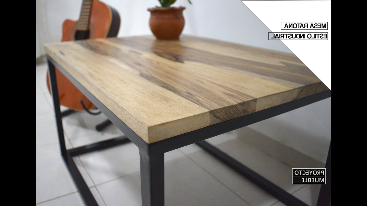 Muebles Tipo Industrial Xtd6 Mesa Ratona Estilo Industrial Madera Y Hierro Industrial Coffee