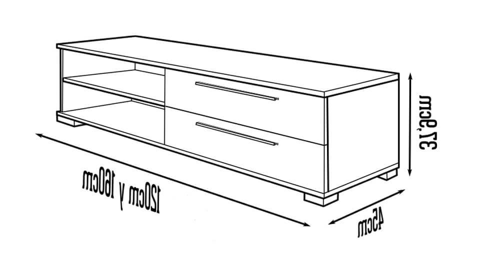 Muebles Tv Diseño Fmdf Diseà O Mueble Tv Con 2 Cajones Ideal Para Televisores Con Base O