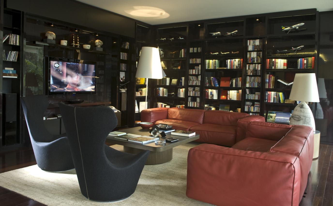 Muebles Tv Diseño Nkde Roomlab Diseà O Y Decoracià N Living Moderno En Negro Y Rojo Por
