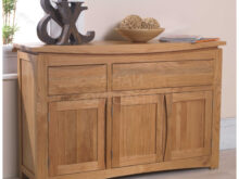 Oak Furniture 87dx Crescent solid Oak Furniture Large Sideboard