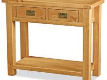 Oak Furniture Tqd3 Salisbury Oak Console Table Hall Table