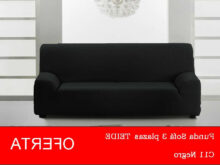 Oferta sofa Txdf Funda sofà 3 Plazas Teide Color Negro En Oferta Elà Stica 100 Garantà A