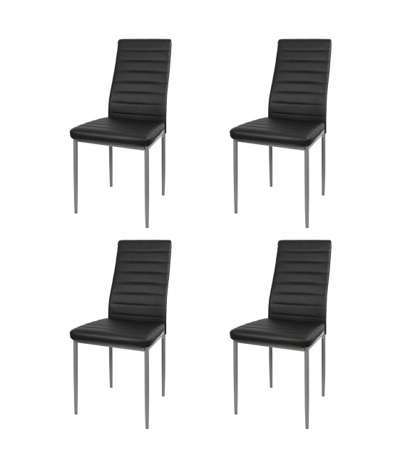 Ofertas De Sillas De Comedor Tqd3 Pack 4 Sillas De Edor Polipiel Colores Disponibles Negro