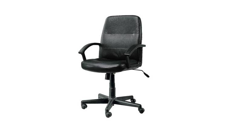 Office Chairs 4pde Argos Home Brixham Faux Leather Office Chair Black Office Chairs Argos