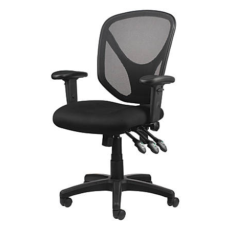 Office Chairs H9d9 Realspace Mftc 200 Mesh Multifunction Ergonomic Mid Back Task Chair Black Item