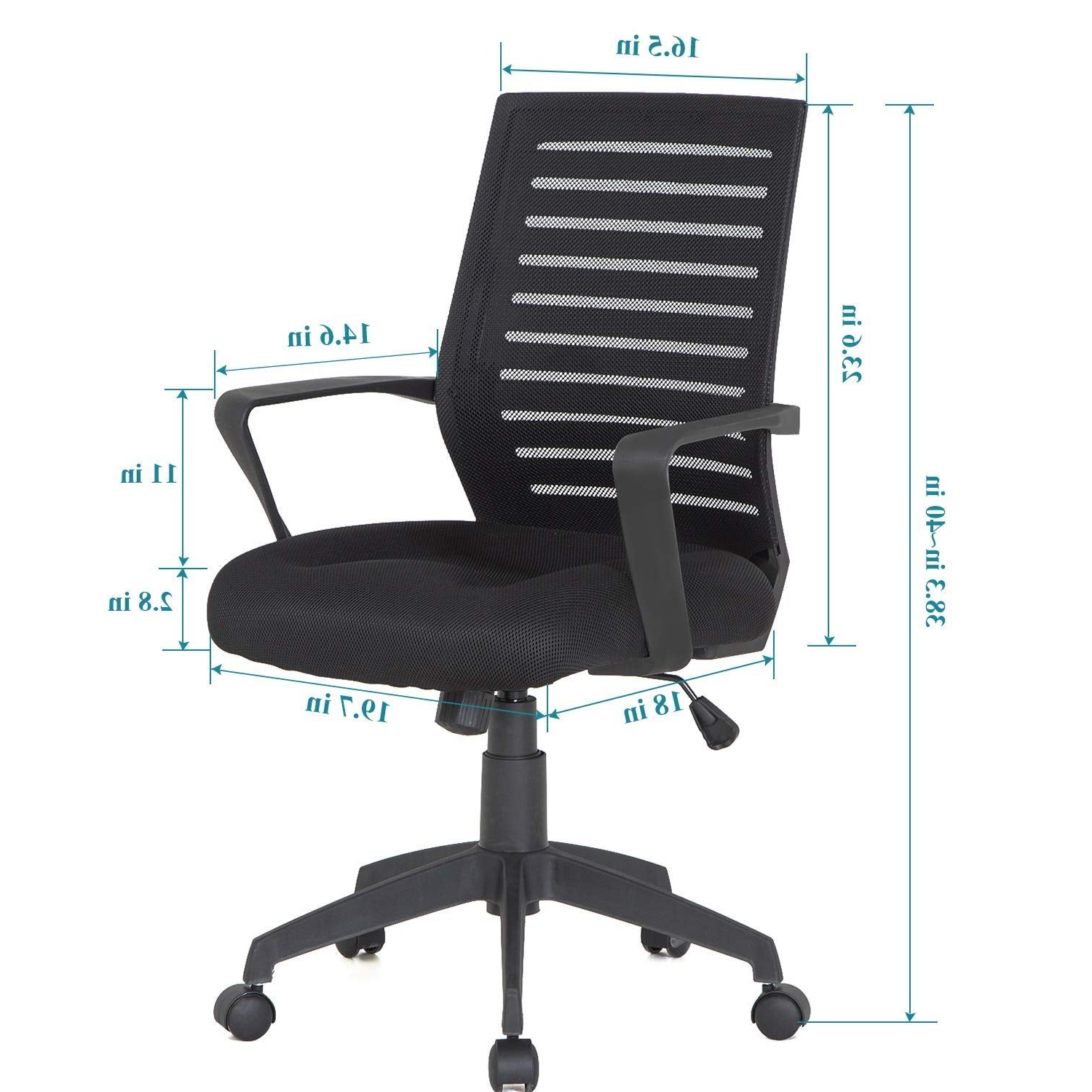 Office Chairs S5d8 Office Chair Mesh Surface Cushion Adjustable Swivel Mesh Desk Chairs