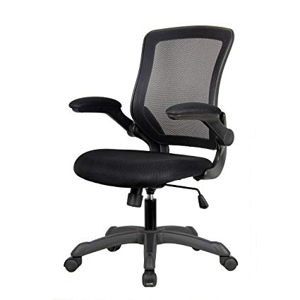 Office Chairs Tqd3 Mesh Task Office Chair with Flip Up Arms Color Black