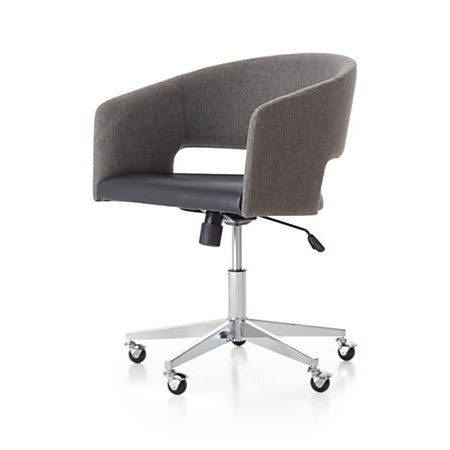 Office Chairs Whdr Don Upholstered Office Chair Crate and Barrel