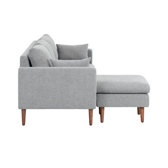 Ok sofas Opiniones Etdg Alicia L Shaped sofa Light Grey