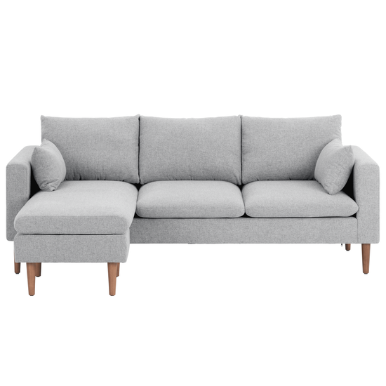 Ok sofas Opiniones Nkde Alicia L Shaped sofa Light Grey