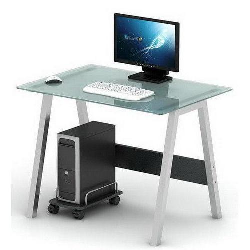 Ordenador Mesa Jxdu Mesa De ordenador En Cristal Delta 76×100 Cm Mesa De ordenador En