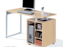 Ordenador Mesa T8dj Mesa De ordenador Escritorio Color Haya Con Cajonera Y Pata Metalica