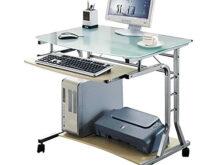 Ordenador Mesa Zwdg Sixbros Mesa De ordenador Enrollable Vidrio Arce Ct 3791a 41