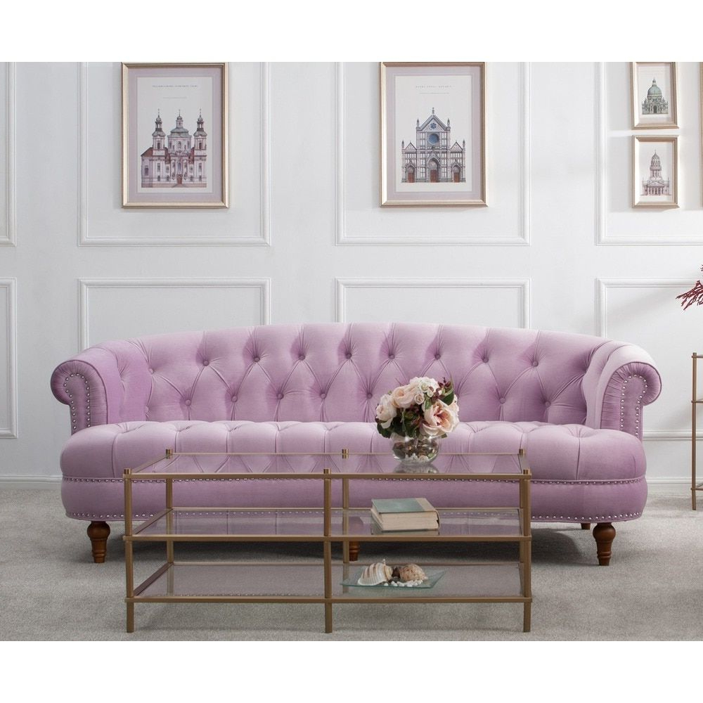 Outlet sofas Online Rldj Jennifer Taylor La Rosa Chesterfield sofa Tawny Port Red Birch