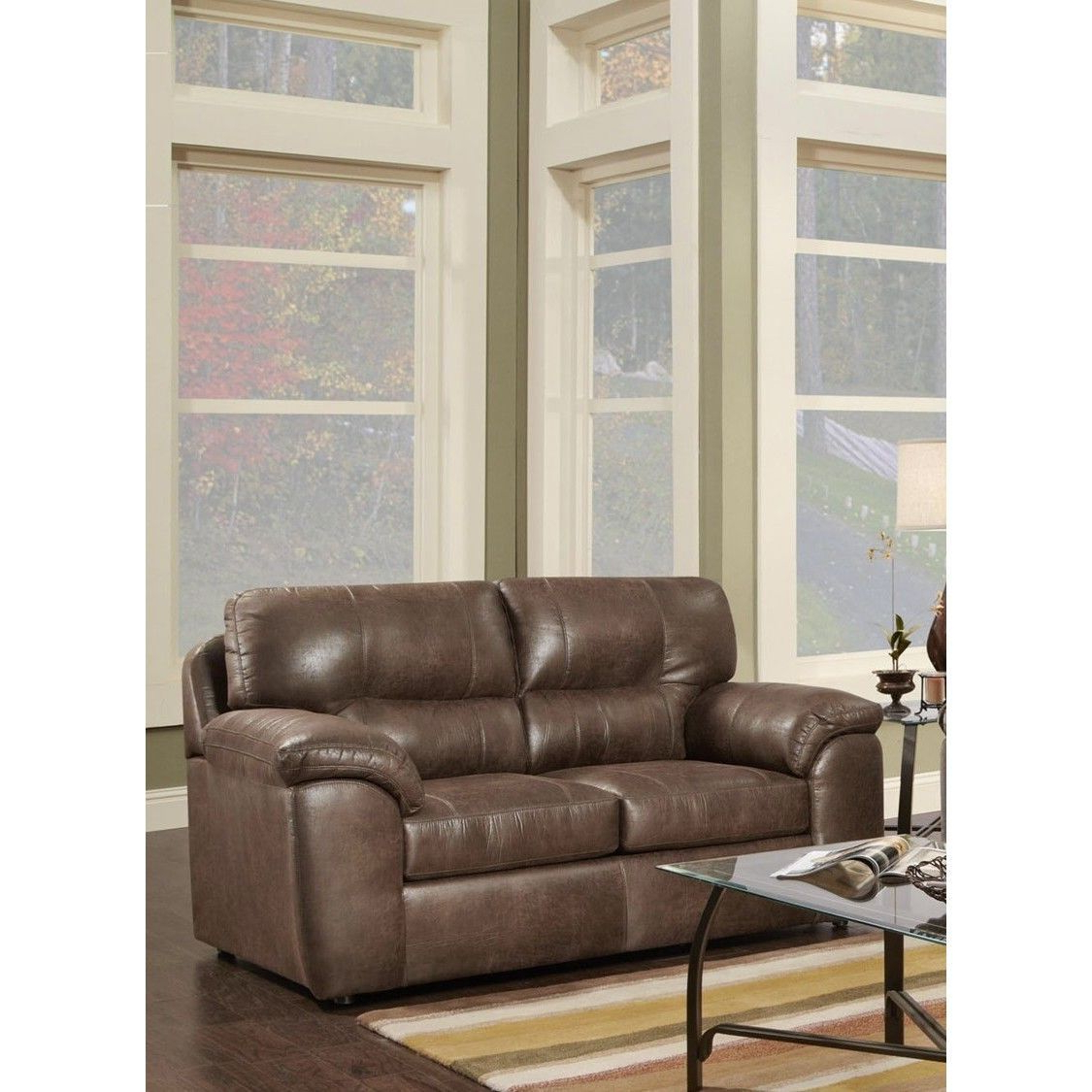 Outlet sofas Online Whdr Chance Sable Loveseat Chance Loveseat Brown Polyester Blend