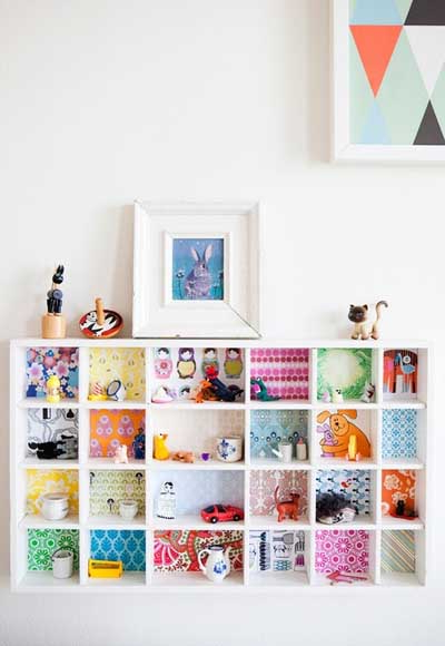 25 fotos e ideas para decorar un mueble con papel pintado - Papel decorativo para muebles ...