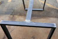 Patas Metalicas Para Mesas 3ldq Trapezoid Steel Legs with 1 Brace Model Ttt07b1 Dining Table