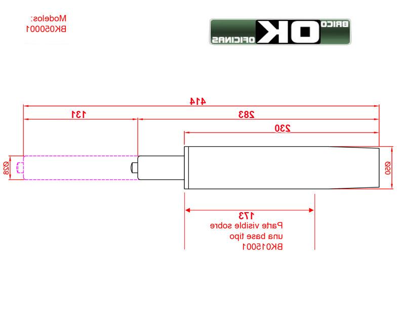 Piston Silla Oficina Ftd8 Cilindro Gas 0001 Para Silla Negro Pistà N Gas Para Bases Planas