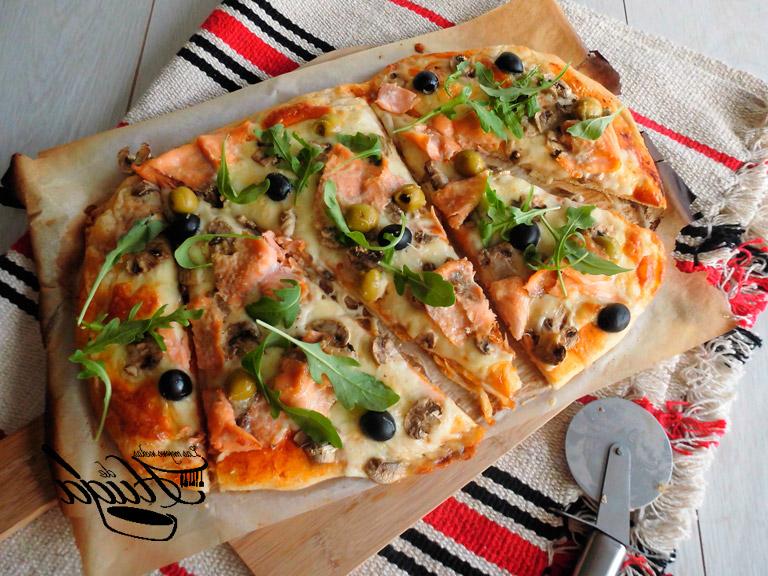 Pizza Vegetal Dwdk Pizza Ve Al De Salmon Ahumado Las Mejores Recetas Huga
