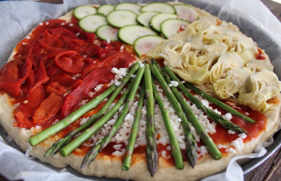 Pizza Vegetal Mndw Mi Caja De Recetas Pizza Ve Al