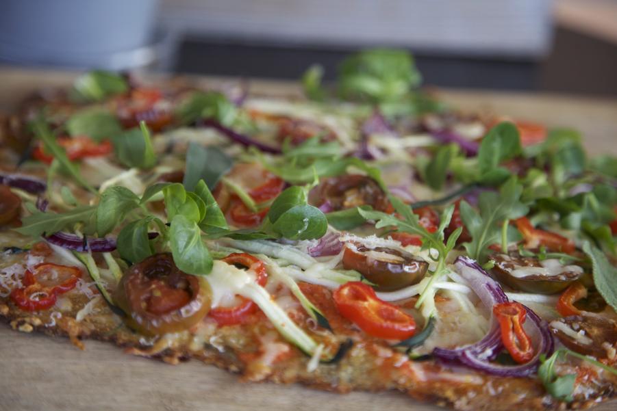 Pizza Vegetal Mndw Receta De Pizza Ve Al Con Masa De Coliflor Loff